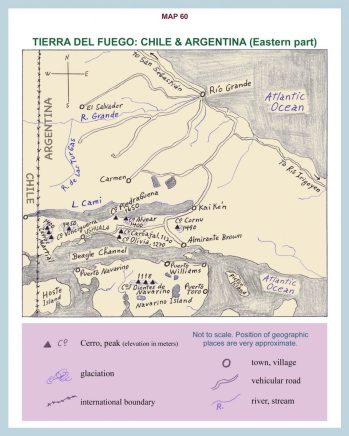 Map of Tierra del Fuego